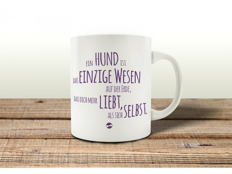 Tassen Hund : Tasse kaffeebecher ein hund ist das einzige wesen